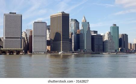 Manhattan seen from the Hudson River spring 2007