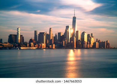 Manhattan skyline across the Hudson River, New York City