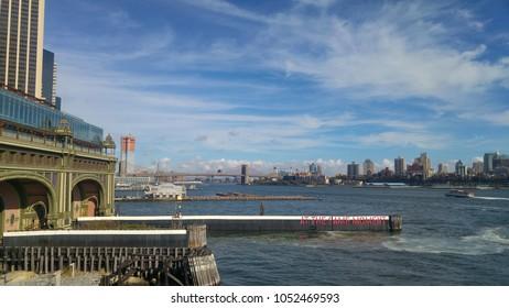 Manhattan skyline from the boat