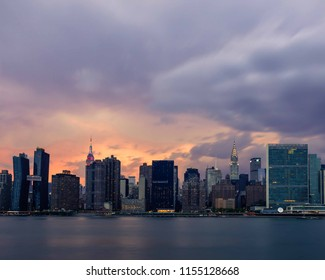 Manhattan skyline vintage