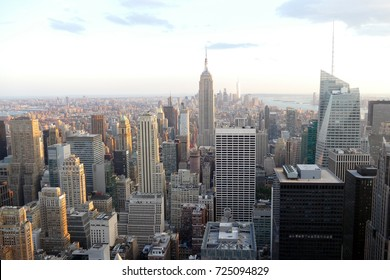 Manhattan skyline from a high tower in New York