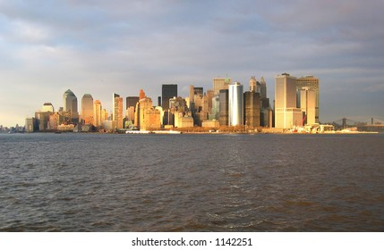 Manhattan Skyline From the New York Bay