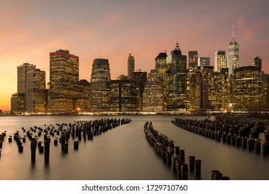 Manhattan Skyline New York from Brooklyn