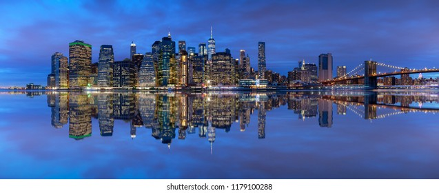 Manhattan Skyline, New York City, Beautiful cityscape