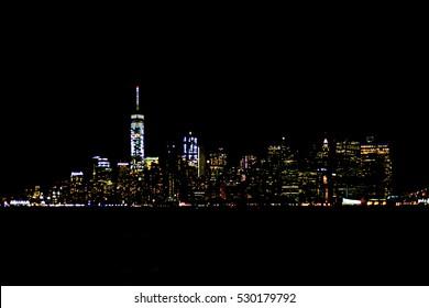 Manhattan Skyline in Night