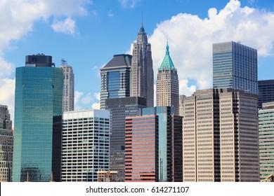 Manhattan skyline - office buildings in New York City.