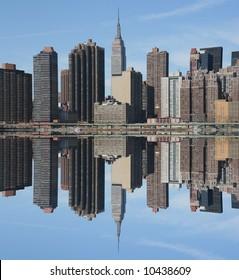Manhattan skyline on a Clear Blue day, New York City
