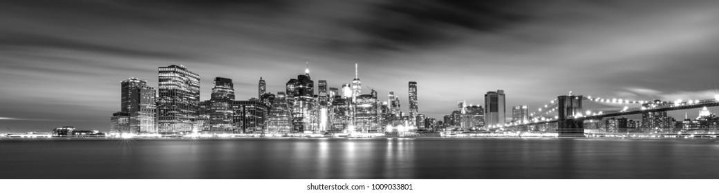 Manhattan skyline pano