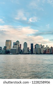 Manhattan Skyline as seen from Jersey City, New York City, United States of America.