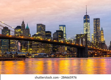 Manhattan skyline at sunrise, New York City. USA.
