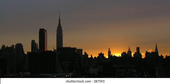 Manhattan at sunrise...
