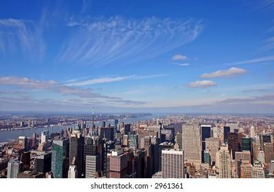 Manhattan under the sky
