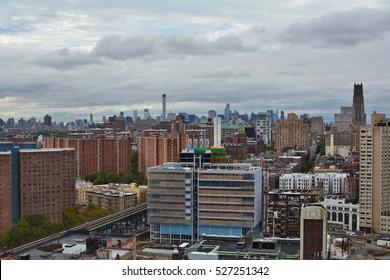 Manhattan view from Harlem, New York City