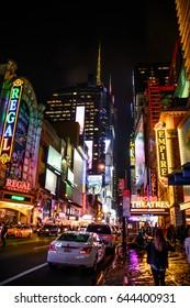 Manhatten night New York City night USA 23.09.2016