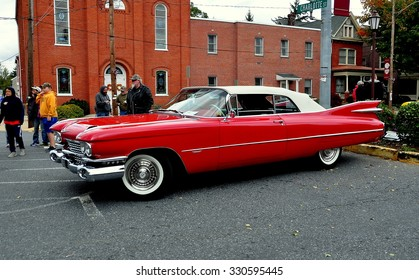 Manheim, Pennsylvania - October 17, 2015:  A vintage late 1950's Cadillac Eldorado convertible at the Manheim Classic Car Show and Parade