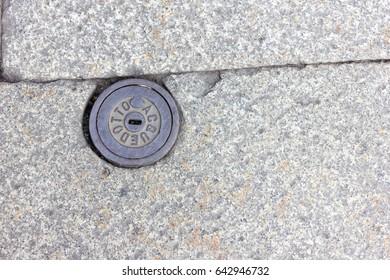 Manhole cover Italian water supply