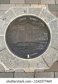 Manhole, Kobe, Japan