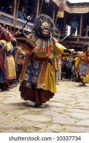 Mani Rimdu dancer, dressed as Tibetan god for harvest festival,Thyangboche MonasteryKhumbuNepal