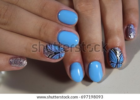Manicure Design Nail Polish Gel Only Stock Photo Edit Now