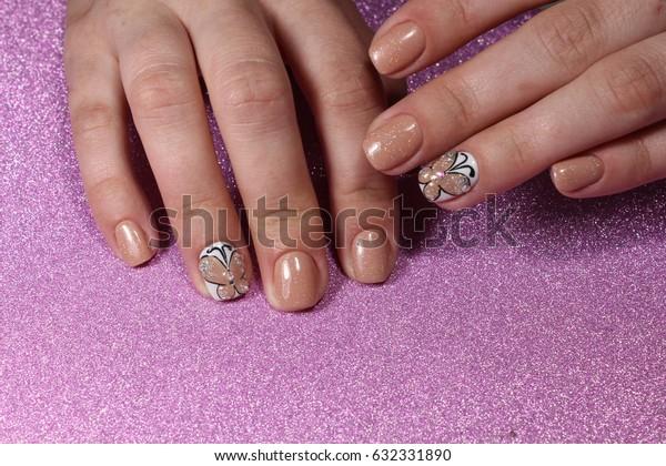 "Manicure design ""tender butterfly"""