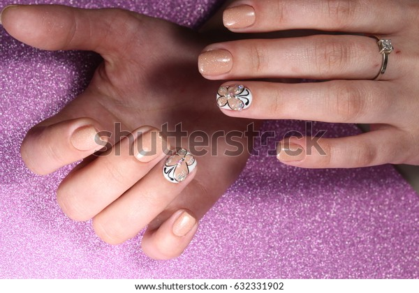 "Manicure design ""tender butterfly"""