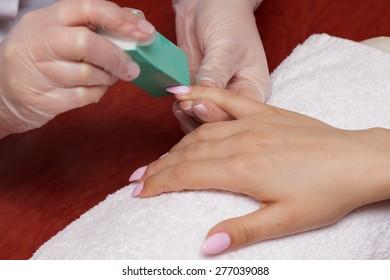 manicure - nail block
