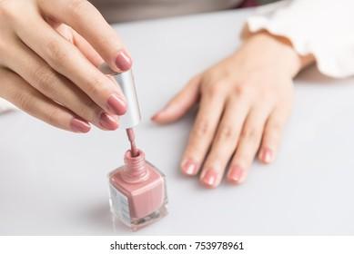 Manicure nail closeup