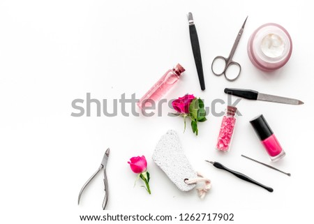 Manicure Pedicure Equipment Nail Bar Set Stock Photo (Edit Now ...