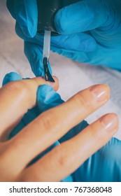 Manicure at the spa salon