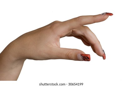 Manicured female hands with nice nails.