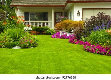 Front Yard Flower Garden Images, Stock Photos \u0026 Vectors