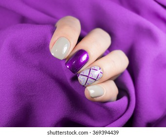 Manicured Violet Nails Nail Polish Art Stock Photo Edit Now