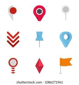 Manifestation icons set. flat set of 9 manifestation icons for web isolated on white background