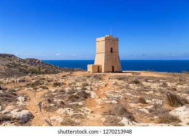 Manikata, Malta. Watchtower Lippija (Ta 'Lippija Tower), 1637