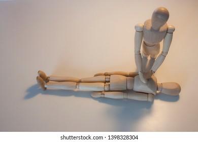 Manikin practice cpr in the floor