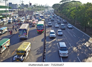 MANILA, April 23, 2016 - The Philippine capital is renowned for its traffic jams and 'Jeepney' busses.