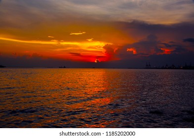 Manila Bay Philippines Sunset