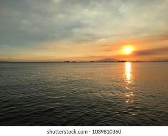 Manila Bay Sunset MOA Philippines