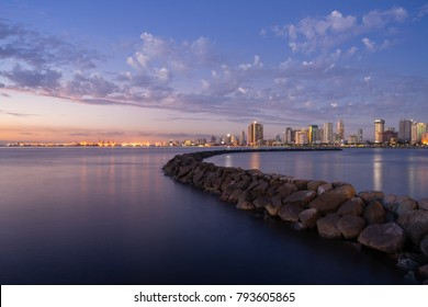 Manila bay water front during sunset