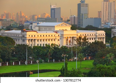 Manila city, Philippines. Aerial view with National Museum.