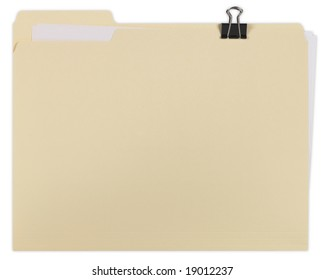 Manila file Folder with clipping path