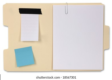 Manila Folder with clipping path