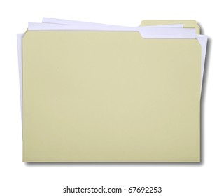 Manila Folder isolated on white with a clipping path