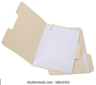 Manila Folder Open