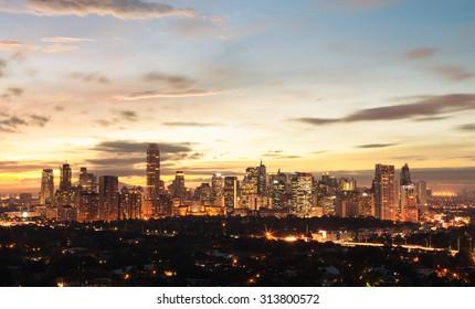 Manila at night, Philippines