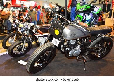 MANILA, PH - APR. 1: Kawasaki motorcycle at Manila International Auto Show on April 1, 2017 in World Trade Center, Manila, Philippines.