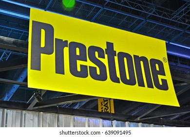 MANILA, PH - APR. 1: Prestone signage at Manila International Auto Show on April 1, 2017 in World Trade Center, Manila, Philippines.