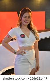 MANILA, PH - APR. 7: 3M car window tint female model at Manila International Auto Show on April 7, 2019 in World Trade Center, Manila, Philippines.