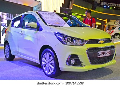 MANILA, PH - APR. 7: Chevrolet Spark on April 7, 2018 in Manila, Philippines. Manila International Auto Show is a automotive trade show organized in Manila, Philippines.