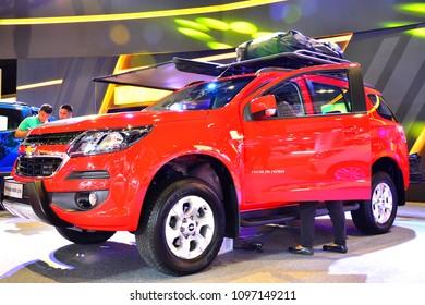 MANILA, PH - APR. 7: Chevrolet Trailblazer LTX sub urban vehicle on April 7, 2018 in Manila, Philippines. Manila International Auto Show is a automotive trade show organized in Manila, Philippines.